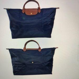 Longchamp large navy blue le pliage tote bag LN